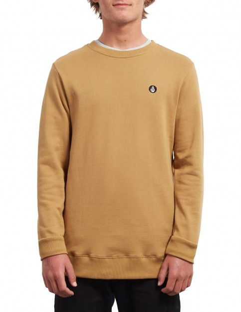 Volcom Snlg Stone Crew Sweatshirt in Old Gold
