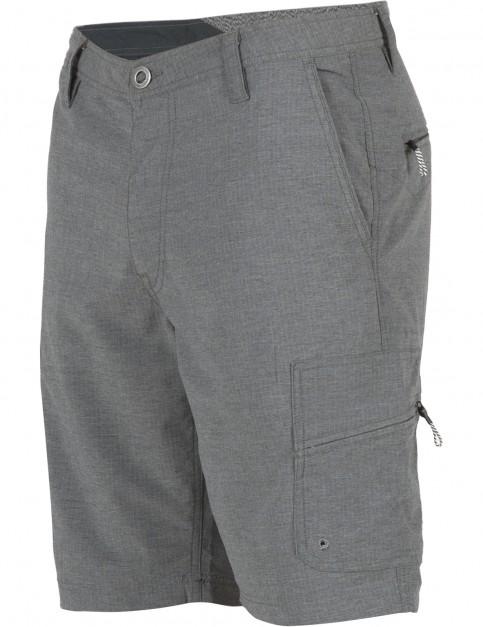 Volcom SNT Dry Cargo Shorts in Asphalt Black