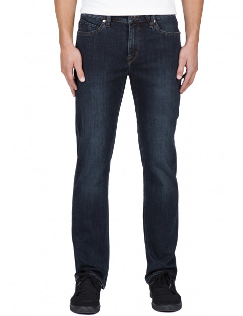 Volcom Solver 34 Straight Fit Jeans in Vintage Blue
