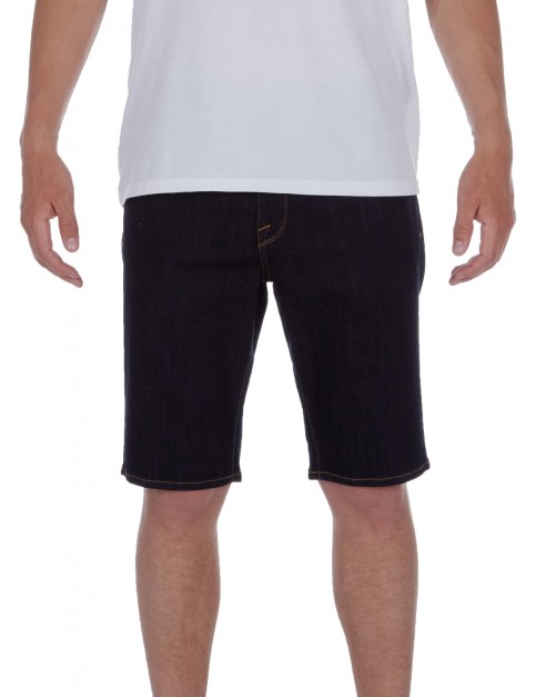 Volcom Solver Denim Denim Shorts in Rinse