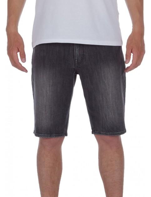 Volcom Solver Denim Denim Shorts in Vertiver Grey