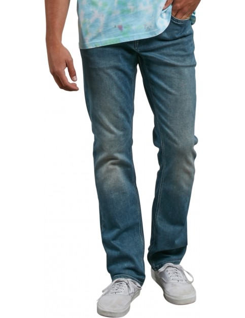 Volcom Solver Denim Straight Fit Jeans in Aged Indigo