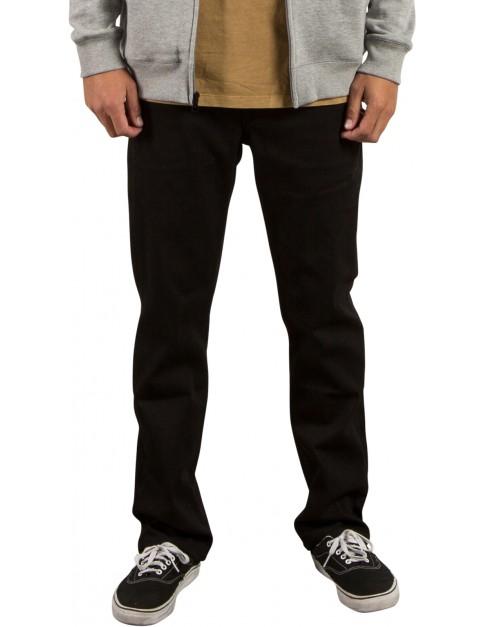 Volcom Solver Denim Straight Fit Jeans in Black On Black