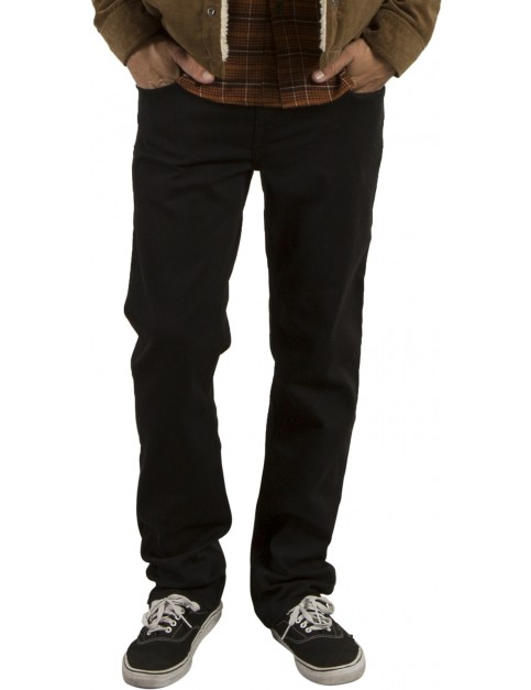 Volcom Solver Denim Straight Fit Jeans in Ink Black
