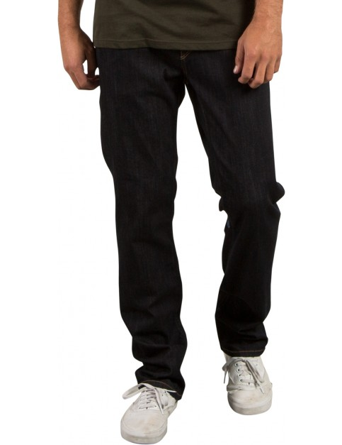 Volcom Solver Denim Straight Fit Jeans in Rinse