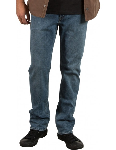 Volcom Solver Denim Straight Fit Jeans in Seventies Indigo