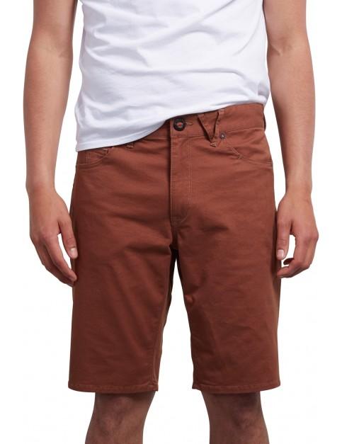 Volcom Solver Lite Twill Shorts in Hazelnut