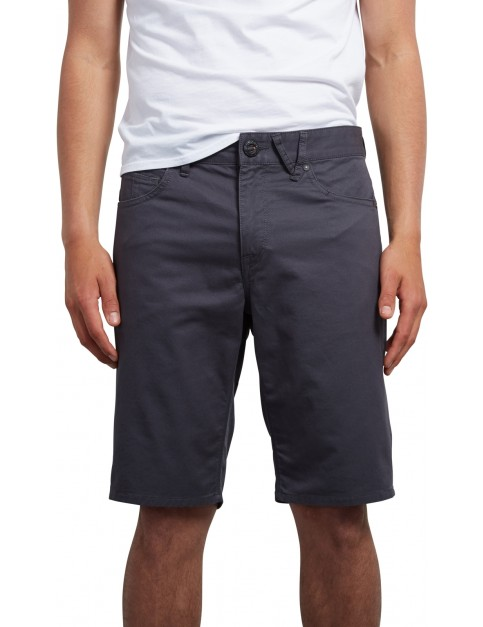 Volcom Solver Lite Twill Shorts in Lead