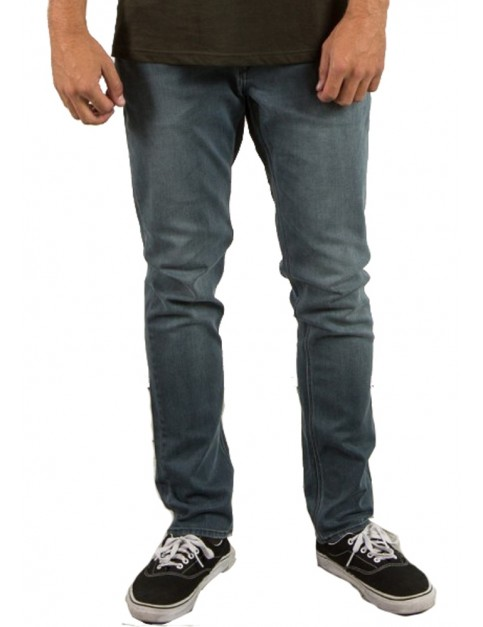 Volcom Solver Tapered Straight Fit Jeans in Rinse