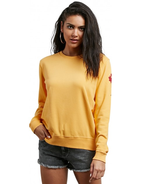 Volcom Sound Check Mid Layer Fleece in Citrus Gold