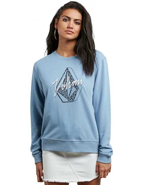 Volcom Sound Check Mid Layer Fleece in Washed Blue