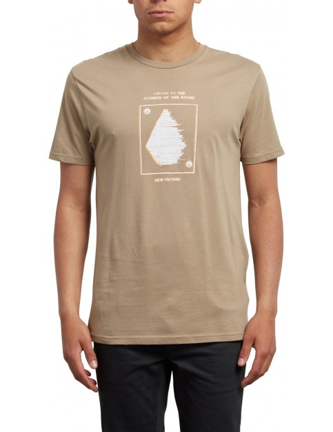 Volcom Sound Short Sleeve T-Shirt in Sand Brown