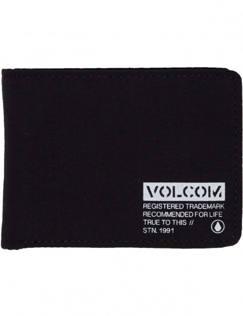 Volcom Spark 3 Fold Polyester Wallet in Black