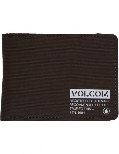 Volcom Spark 3 Fold Polyester Wallet in Military
