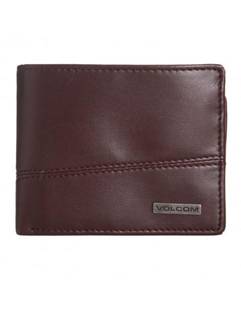 Brown Volcom Split Stone Faux Leather Wallet