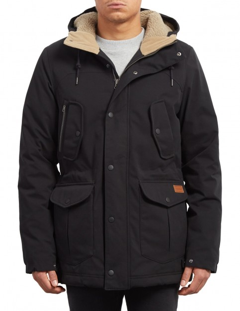 Volcom Starget Parka Jacket in Black