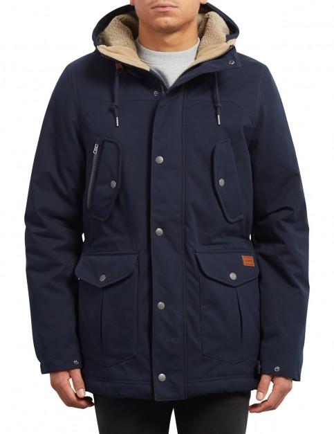Volcom Starget Parka Jacket in Navy
