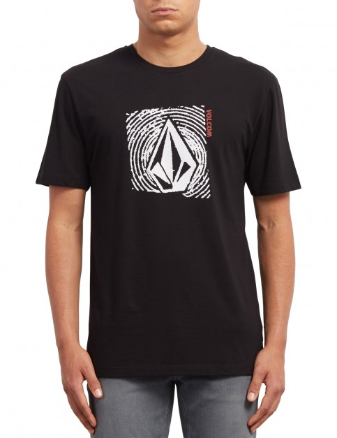 Volcom Stonar Waves Short Sleeve T-Shirt in Black