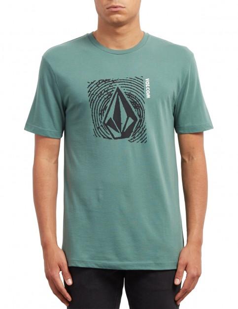 Volcom Stonar Waves Short Sleeve T-Shirt in Pine