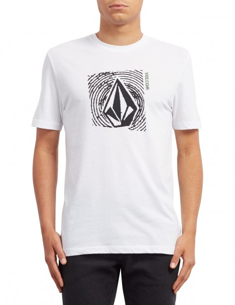 Volcom Stonar Waves Short Sleeve T-Shirt in White