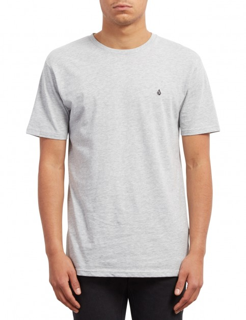Volcom Stone Blank Short Sleeve T-Shirt in Heather Grey