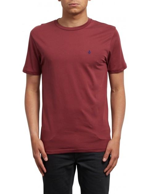 Volcom Stone Blanks Short Sleeve T-Shirt in Crimson