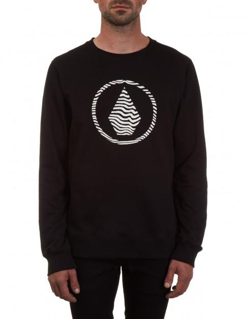 Volcom Stone Crew Sweatshirt in Black