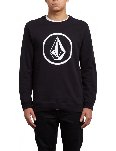 Volcom Stone Crew Sweatshirt in Black