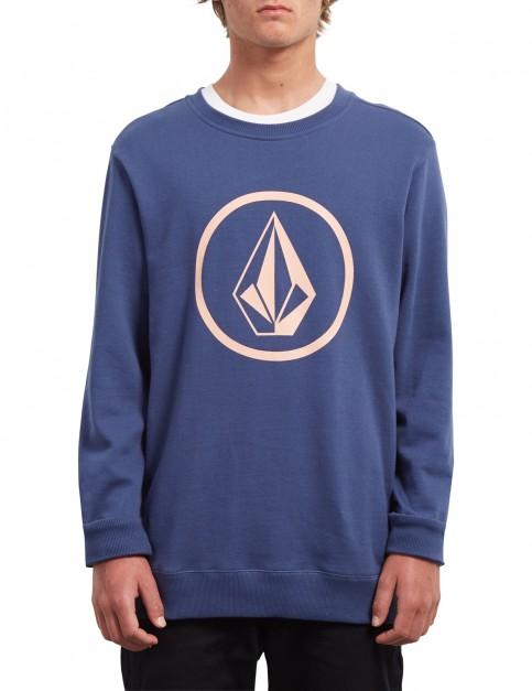Volcom Stone Crew Sweatshirt in Matured Blue
