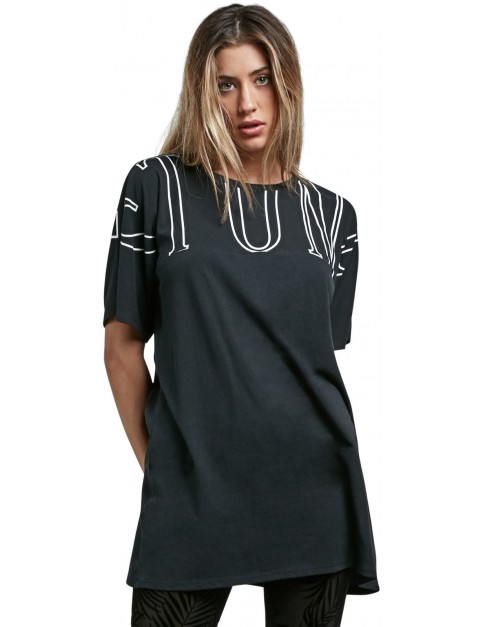 Volcom Stone Luv Tunic Short Sleeve Shirt in Black