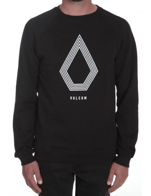 Black Volcom Stone Pack Crew Sweatshirt