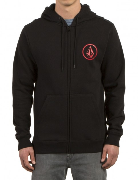 Volcom Stone Zip Zipped Hoody in Black