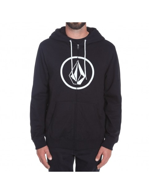 Volcom Stoned Lined Zipped Hoody in Black