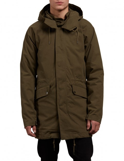 Volcom Stoner Parka Jacket in Military
