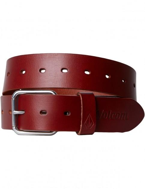Volcom Strangler Leather Belt in Brown