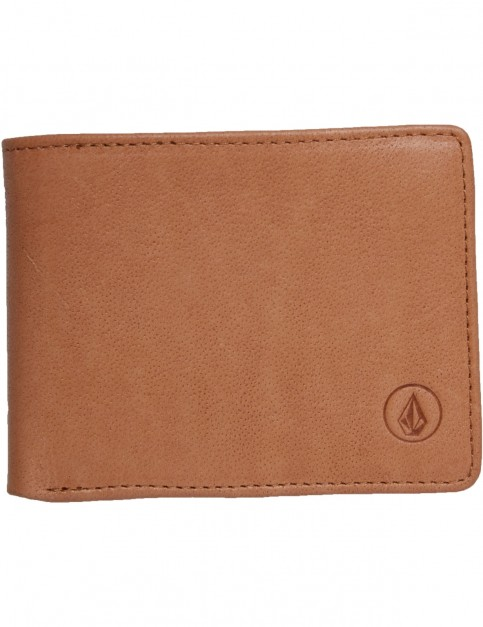 Volcom Strangler Leather Wallet in Natural