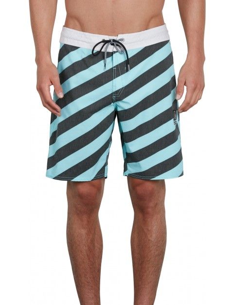 Volcom Stripey Stoney 19 Mid Length Boardshorts in Pale Aqua