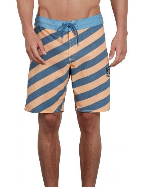 Volcom Stripey Stoney 19 Mid Length Boardshorts in Summer Orange