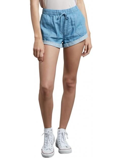 Volcom Sunday Strut Denim Shorts in Light Blue