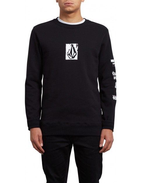 Volcom Supply Stone Crew Sweatshirt in Black