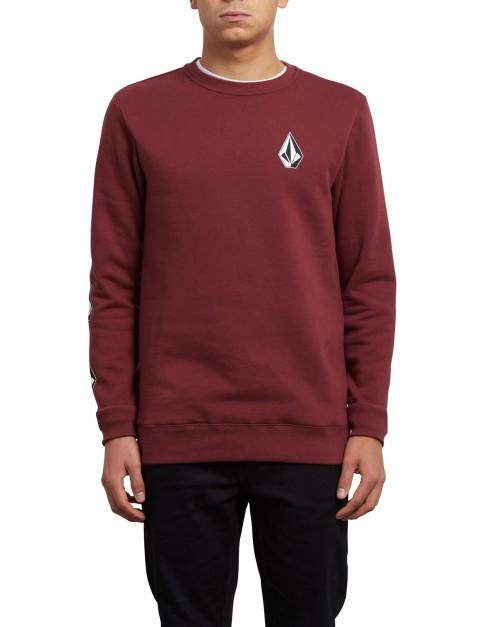 Volcom Supply Stone Crew Sweatshirt in Crimson