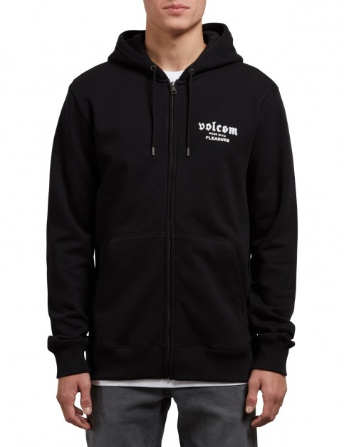 Volcom Supply Stone Zipped Hoody in Black