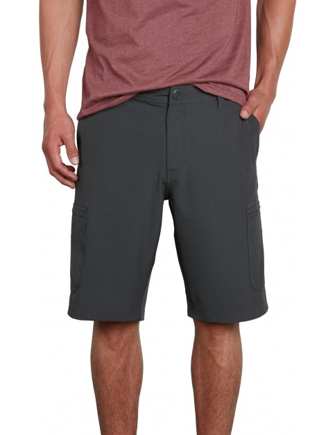 Volcom Surf N' Turf Cargo Shorts in Charcoal Heather