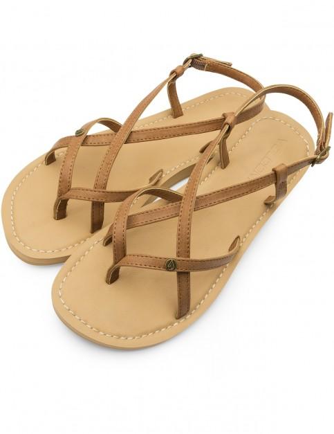 Volcom Tavira Flip Flops in Tan