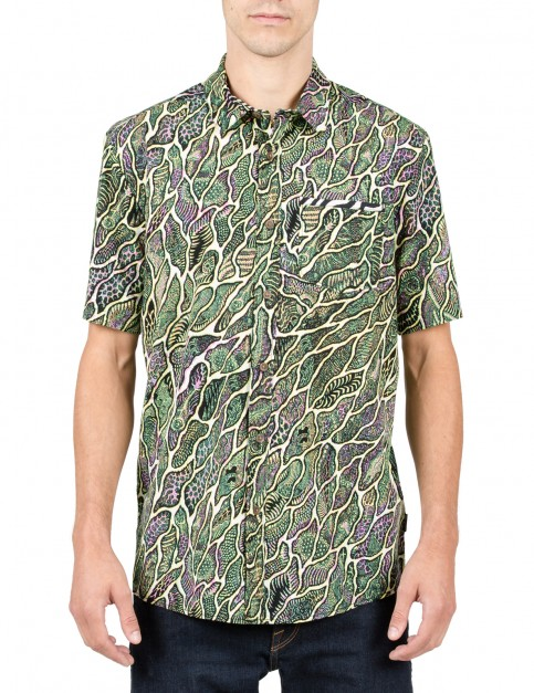 Volcom Tetsunori Short Sleeve Shirt in Multi