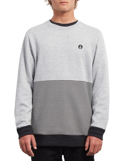 Volcom Threezy Crew Sweatshirt in Grey