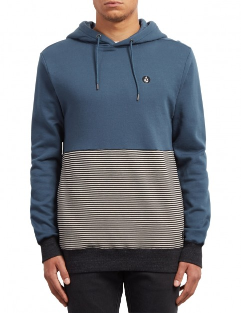 Volcom Threezy Pullover Hoody in Navy Green