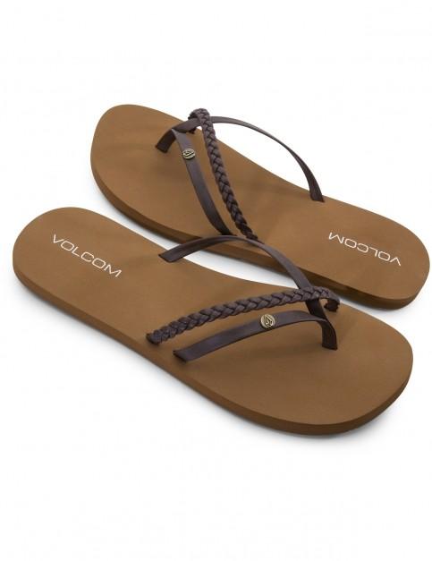 Volcom Thrills Flip Flops in Brown