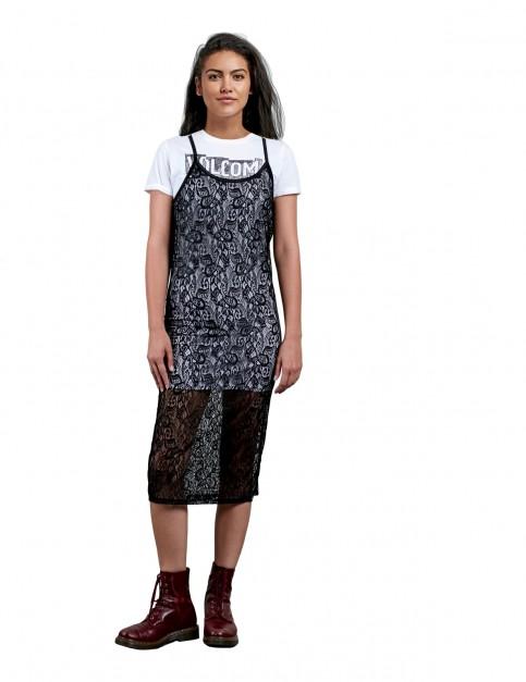 Volcom Times Now Midi Dress in Black