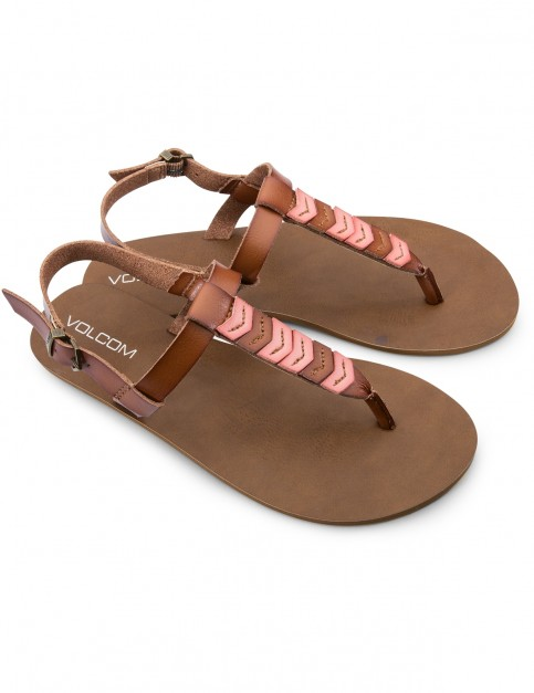 Volcom Trail 6 Flip Flops in Coral